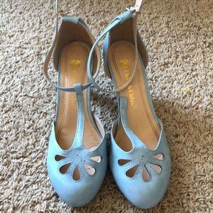 Sky blue Chase and Chloe heels